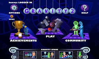 Screenshot of Isaac Newton's Gravity 2