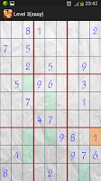 Screenshot of Android Sudoku