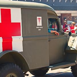 Vintage Medical Transport Vehicle by Jeannine Jones - Transportation Automobiles (  )