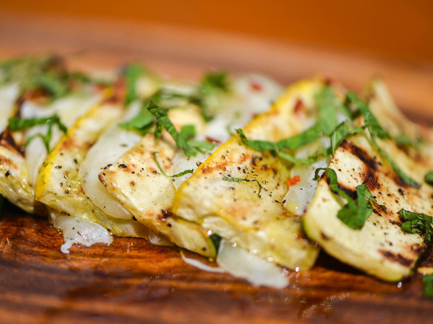 Grilled Summer Squash and Kasseri Cheese With Lemon and Mint Recept ...