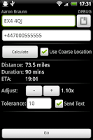 Screenshot of ETA Text