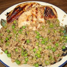 Garlic Chicken Fried Brown Rice