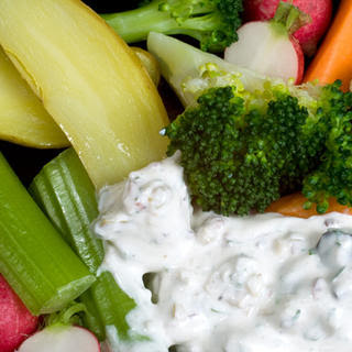Olive-Parsley Dip with Crudités