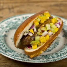 Jambalaya Dog With Holy Trinity Relish