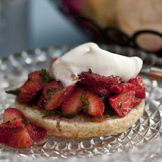 Strawberry, Mint and Thyme Shortcake
