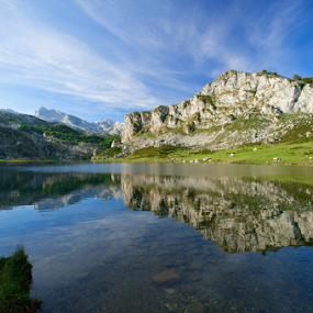 Picos Lake  by Benjamin Arthur - Landscapes Mountains & Hills ( reflection, picos, mountain, asturias, benjiearthur, lake, benjaminarthur.com, spain )