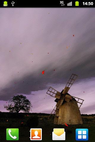 古老的風車 - 動態壁紙