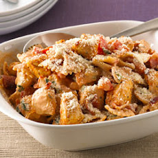 Creamy Chicken, Bacon and Tomato Pasta