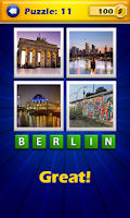 Screenshot of 4 Pics 1 Word - Cities