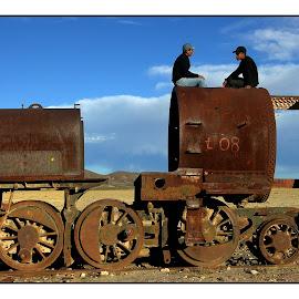Train cemetairy01 by Guy Gillade - Transportation Trains ( train, uyuni )