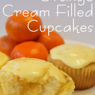 Orange Cream Filled Cupcakes