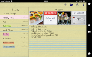 Screenshot of notePad Photos,Sounds,Sync