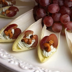 Endive with Blue Cheese, Grapes and Candied Walnuts