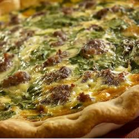Breakfast Sausage Spinach Pie