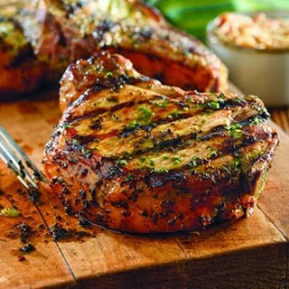 Grilled Pork Chops with Basil-Garlic Rub