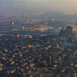 Cappadocia, Turkey by Cristian Barleanu - Landscapes Travel ( hot air baloon, turkey, cappadocia,  )