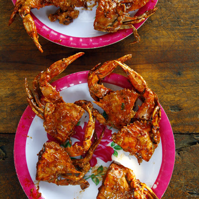 Jaibas Enchipotladas (Pan-Fried Crabs in Chipotle Sauce)