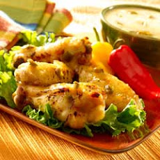 Pineapple Jalapeno Wings With Creamy Dipping Sauce