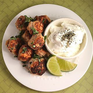 Middle Eastern Meatballs with Lime Yogurt and Orange Almond Couscous