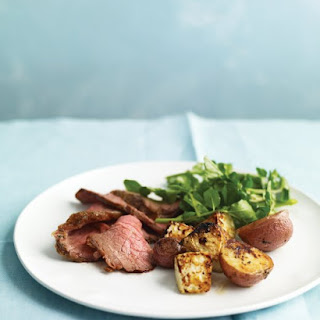 Roast Beef and Celery Root with Watercress Salad
