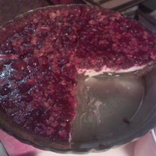 No-Bake Cranberry Sauce Pie