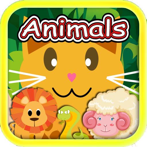 QCat- 幼儿的教育游戏 八合一:动物 教育 LOGO-玩APPs