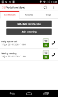 Screenshot of Vodafone Meet Anywhere