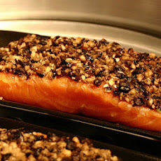 Black Bean and Salsa Salmon