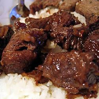 Kicky Steak Strips with Rice