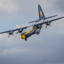 Fat Albert Landing by Ron Meyers - Transportation Airplanes