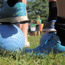 Football by Kylie Kellard - Sports & Fitness Soccer/Association football ( mental game, foot, family, team, soccer )