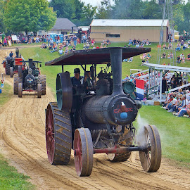 Big Iron on Parade by Jim Czech - Transportation Other ( parade, steam engine, engine, tractor, iron, steam )