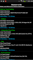 Screenshot of Truck Stops and Travel Plazas