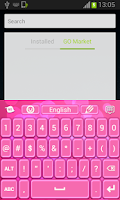 Screenshot of Color Keyboard Pink