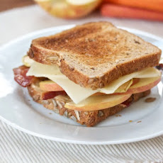 Bacon, Apple and Swiss on Whole Wheat