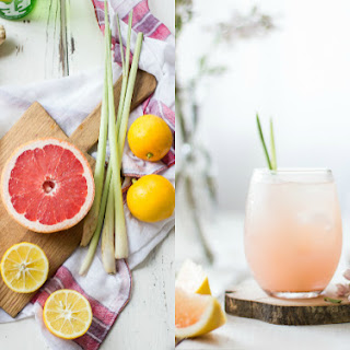 Grapefruit, Ginger, and Lemongrass Sake Cocktails