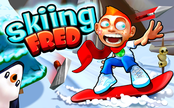 Skiing Fred apk screenshot