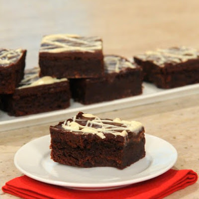 Triple-Chocolate Flourless Brownies