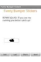 Screenshot of Funny Bumper Stickers