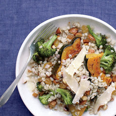 Barley Salad with Squash And Broccoli