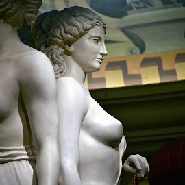 One of Three Ladies - Caesar's Lobby by Steven Aicinena - Buildings & Architecture Statues & Monuments