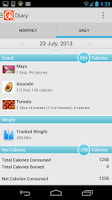 Screenshot of LIVESTRONG Calorie Tracker
