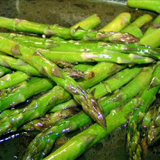 Roasted Asparagus With Balsamic Brown Butter Sauce