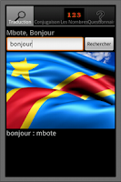 Screenshot of French Lingala dictionary