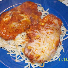 20-Minutes Chicken Parmesan With Spaghetti