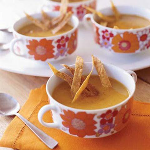 Sweet Potato, Chipotle, and Apple Soup