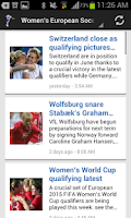 Screenshot of Latest Soccer Scores And News