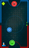 Screenshot of Glow Hockey : MultiPlayer