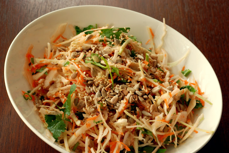 Crunchy Cabbage Salad with Orange-Tahini Dressing Recept | Yummly