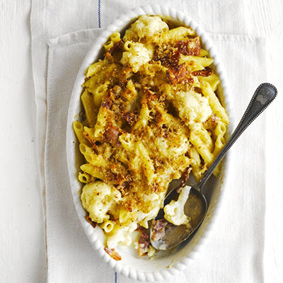 Cauliflower & Bacon Pasta